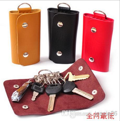 Newest Pu Leather Key Wallets Bags Men Women Portable Key Chain ...