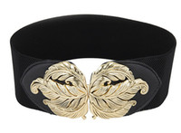 Wholesale Vintage cutout carved cummerbund female all match elastic waist female elastic waist belt