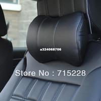 Wholesale Car headrest neck pillow auto neck pillow super fibre leather headrest auto supplies auto upholstery One Piece
