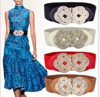metal ornaments - Metal braided buckled belt ornaments elastic lady waist seal woman belts Compiled twist belt