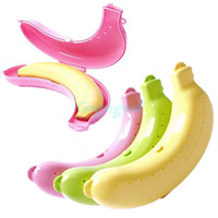 banana lunch box - Cute Banana Protector Case Container Trip Outdoor Lunch Fruit Box Storage Holder