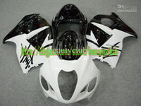 Wholesale 7gifts white black for SUZUKI GSXR1300 GSXR GSX R1300 fairing kit Y673