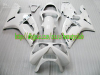 Wholesale 7gifts fairings for KAWASAKI ZX6R white black ZX R ZX R fairing kit G2375902H