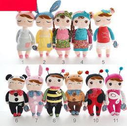 Wholesale Angela Plush Toys Metoo Stuffed Rabbit Dolls Toys Append Gift Box Kids Christmas Gifts Mixed styles mixed WANJV001