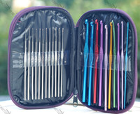 Wholesale bearded needle Knitting Needles Craft Multi color Aluminum Stainless steel Crochet Hooks alumina metal crochet Craft