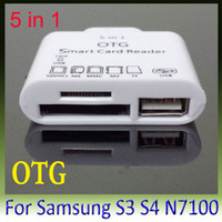 Wholesale 5pcs USB OTG Connection Kit in Card Reader for Samsung Galaxy S3 i9300 S4 i9500 N7100 NOTE2