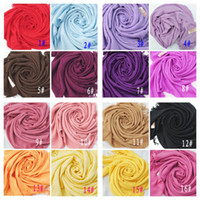 Wholesale MIC Mxed Pashmina Cashmere Solid Shawl Wrap Women s Girls Ladies Scarf Soft Fringes Solid Scarf