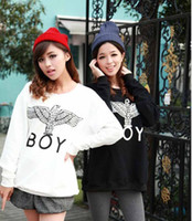 Wholesale 2013 New Women Men boy london D loose Long SLeeve Punk eagle printed Hoodies Sweatshirts Galaxy sweaters Pullover Tops