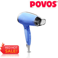 Wholesale Fashion POVOS Hair Dryers PH6800 W Travel Home with Cool and Hot Air Foldable V V Dual Voltage Handy Portable MOQ PC Hair Dryers