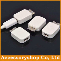 Wholesale Micro pin USB To pin Adapter For Note Note3 III N9000 Micro USB to Super Speed Data Cable Charger Adapter With Retail Packs DHL