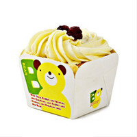Wholesale Dia mm Cartoon Painting Candy Cake Paper Cup Non toxic Cupcake Liners Cases Bakeware CK023