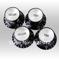 Wholesale Black Mirror Bell Top Hat Guitar Speed Knob Volume And Tone