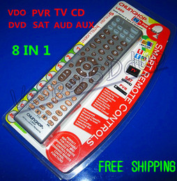 Free Shipping New Smart Universal 8in1 Remote Controller Control TV PVR VDO DVD SAT AUD CD AUX