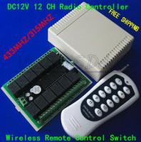 Wholesale DC12V CH Radio Controller Wireless Remote Control Switch MHZ MHZ Relay Wireless Receiver and Transmitter