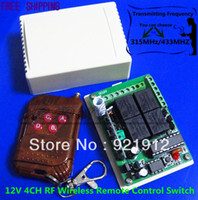 Wholesale DC V CH RF Wireless Remote Control Switch System MHZ Transmitter And Receiver