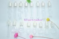 Wholesale 100 Big Mix Glass bottles pendant vials perfume pendants Silver plated perfume bottle