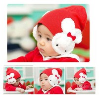 Wholesale Children Girl Beanie Hat Double Rabbit Ear Warm Cute Kid Boy Cap Hat Christmas Gift YE02005