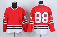Wholesale 2014 New arrival Chicago blackhaw hockey jersey patrick kan hot selling hockey wears comfortable ice hockey jerseys