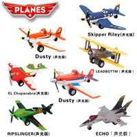 Wholesale 7styles Dusty planes Aircraft model toy with music and light amp Toy Vehicles Toys