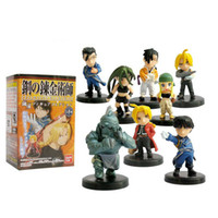 Multicolor PVC GK Wholesale - Free Shipping Anime Fullmetal Alchemist PVC Action Figures Toys Dolls New in Retail Box 8pcs set