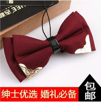 Wholesale Retail Bowtie Fashion17 Color solid High quality bow tie men bowtie women commercial bow tie male solid color marriage bow tie