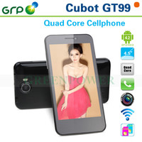 Wholesale Original Cubot GT99 Android G Smartphone MTK6589 Quad Core GHz Dual Sim WCDMA G GPS Wifi Bluetooth MP Camera IPS Screen