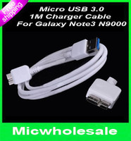 Wholesale For Samsung Galaxy Note Micro USB Data Sync Cable Charging CABLE charge Line cord USB Connector For note3 N9000
