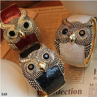 Wholesale Fashion Retro Owl Bracelet Punk Carve Metal Cuff Bangle Jewelry Style Choose GAD