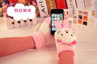 Wholesale 50pairs Christmas Gift Unisex cartoon touch glove Smart Gloves for all capacitive products caell phone iphone iphone case ipad kinds