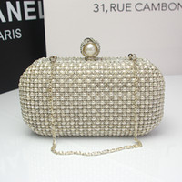 Wholesale The new luxury European and American high end banquet clutch evening bags full of diamond annual Christmas dress pack a small bag011