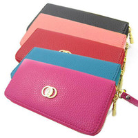 Wholesale S5Q Zip PU Leather Clutch Case Women Lady Long Handbag Wallet Purse Money Clip AAACFW