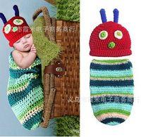 Unisex Summer Crochet Hats Hot 2014 Newborn Baby Crochet Knit Aminal Beanie Cap Photography Props Toddler Costume Set Handmade children Hat+diaper one set erbaby
