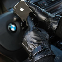 Wholesale Retail Woman s Genuine Sheepskin Leather Screen Touch Gloves For Iphone Ipad HTC lady s Winter Touch Gloves