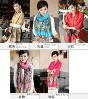Long wholesale cotton scarves - NEW Ms thick cotton scarves large shawl cotton scarf Women s scarves mixed colors HLL520H