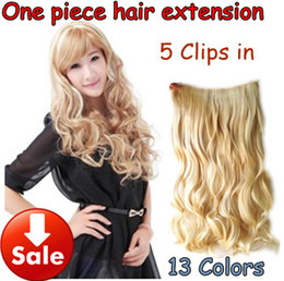 Wholesale 120g thinker quot curl artificial hair ladies clip in hair extensions colors pc drop shipping