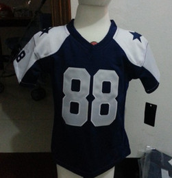 Wholesale Newest Toddler Football Jerseys Jersey Throwback Blue Color Thanksgiving Size T T T Stitched Mix Match Order Football JERSEYS