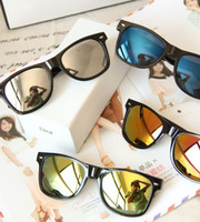 Wholesale Retro style unisex sunglasses with metal pin leopard print colors free shipment