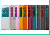 Wholesale Smart S View Flip Case for Galaxy Note N9000 Housing Back Cover Open Window S View PU Leather Cases For Samsung Note3 N9008