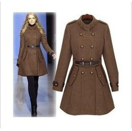 Wholesale Women's Cultivate One's Morality Dust Coat With Thick Coat Trench Coat