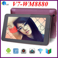 Wholesale DHL VIA V7 WM8880 Tablet PC Q8 Q88 Update Dual Core Dual camera GHz Android M RAM G ROM P cheap tablet pc MID