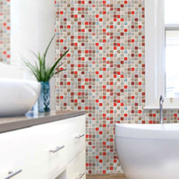 Wholesale kitchen decoration home decor Mosaic wall stickers waterproof stickers wallpaper bathroom pvc wallpaper tile stickers hem