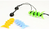 Wholesale 60pc Sample order Silicone Rubber Fish Bone Earphone Cord MP3 MP4 player Cable Winder Holder Organizer I67