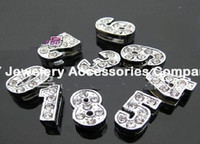 Wholesale 100pcs MM assorted numbers crystal designs floating charms for glass memory living floating locket pendant Xmas gift no locket