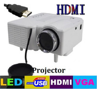Wholesale Hot Portable Mini HD LED Projector Cinema UC28 Projector Theater PC amp Laptop VGA USB SD AV input