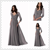 Top Selling V- Neck 3 4 Sleeve Sexy Mother Of The Bride Dress...