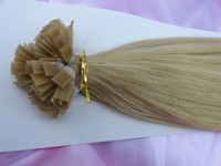 black straight 1.0g Hot sale #22 prebonded fusion FLAT TIP hair extension 18-28inches IN STOCK 3pcs lot high quality Indian virgin human hair FREE SHIPPING