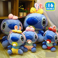 Wholesale Lilo amp Stitch Plush Doll quot Stuffed Animal Toy Figure Children toys Chritmas Gifts