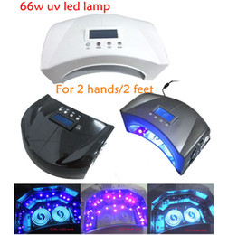 Wholesale By DHL New UV Led Nail Lamp w White Silvery Black UV Nail Lamps For Hands Feet With CE and ROHS w LED w UV