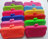 Wholesale Rubber Silicone Pouch Purse Wallet Glasses Cellphone Cosmetic Money Coin Bag Case E Cigarette Electronic Cogarette Portable Bag New