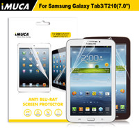 Wholesale iMUCA Original Brand New Anti Fingerprint Anti UV Ray Anti blue Light Screen Protector For Samsung Galaxy Tab T210